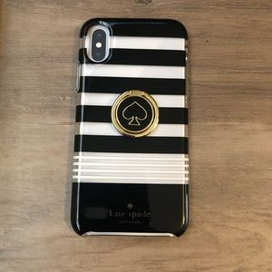 "New Kate Spade IPhone X or 5.8"" case & ring stand"